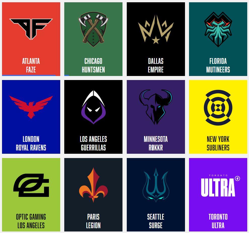 Call of Duty League teams