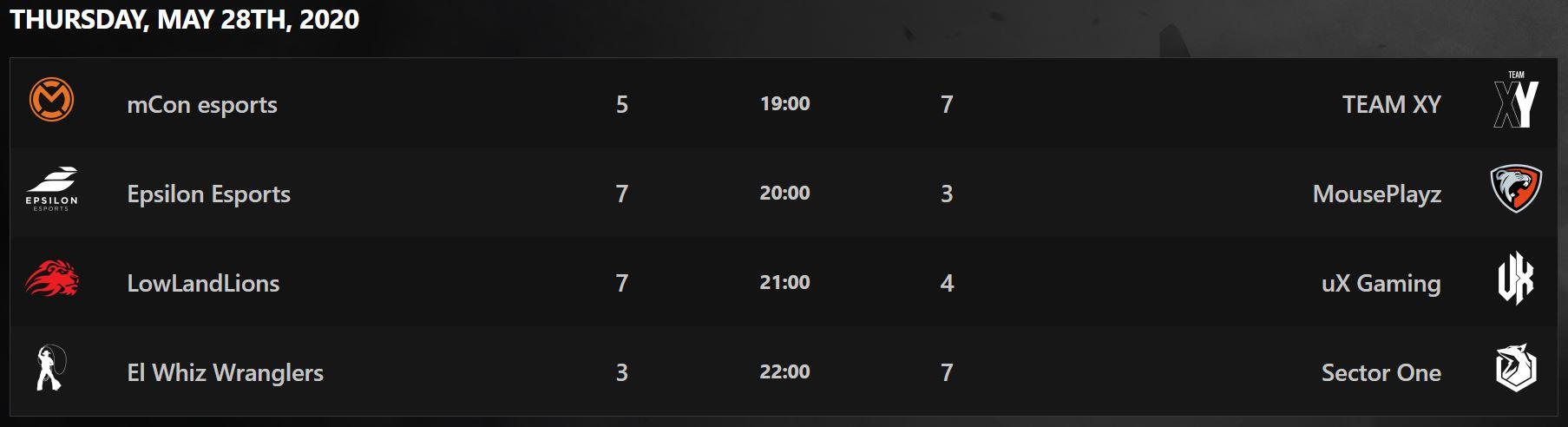Rainbow Six Siege Benelux League Schedule Jeudi 28 mai