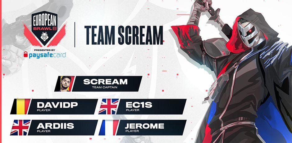Team Scream Valorant G2 Esports European Brawl 2