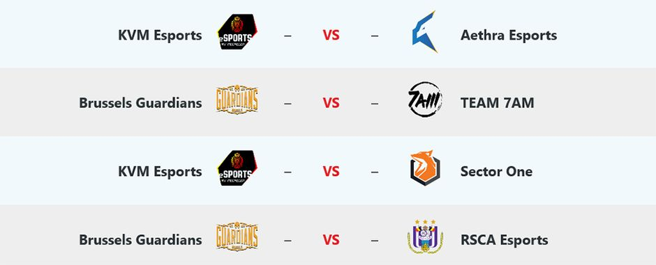 Schedule Day 2 Belgian League League of Legends