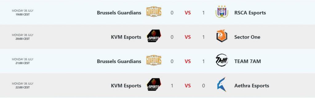 Result Day 6 Belgian League League of Legends